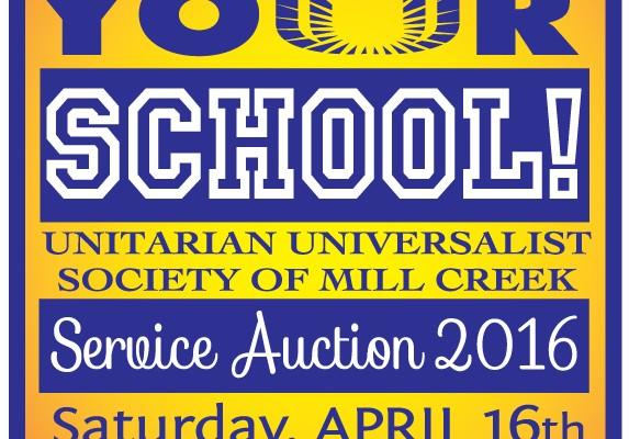 2016 UUSMC Service Auction Poster