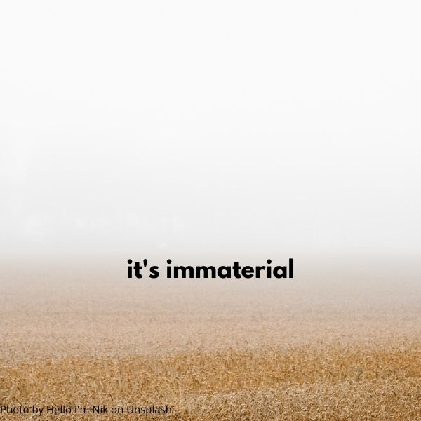 Sermon title its immaterial